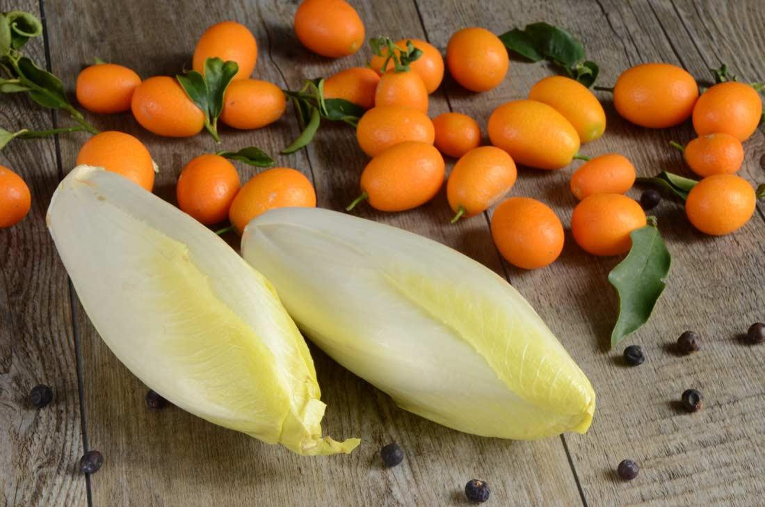endives confites aux kumquats