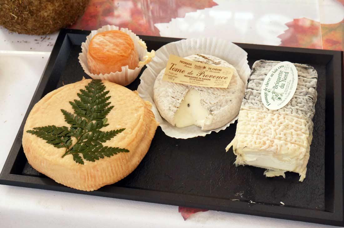 quelques variétés de fromages