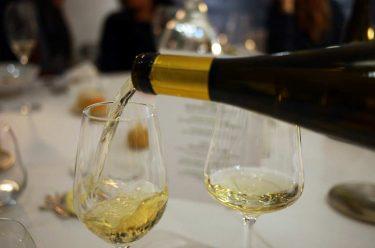 vins d'Alsace servis lors du Diner à l'Atelier du peintre