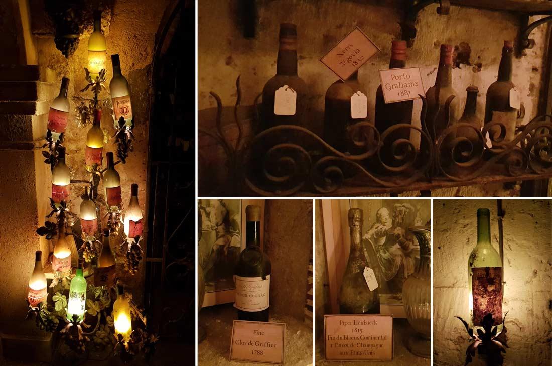 la fameuse et exceptionnelle cave de la Tour d'Argent