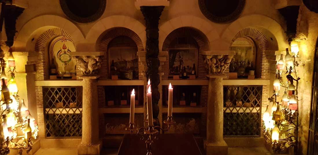 quelques détails de l'exceptionnelle cave de la Tour d'Argent