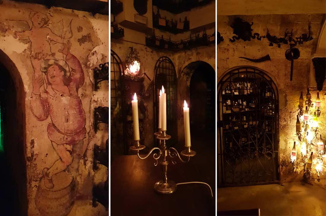 vue de l'intérieur de la cave de la Tour d'Argent