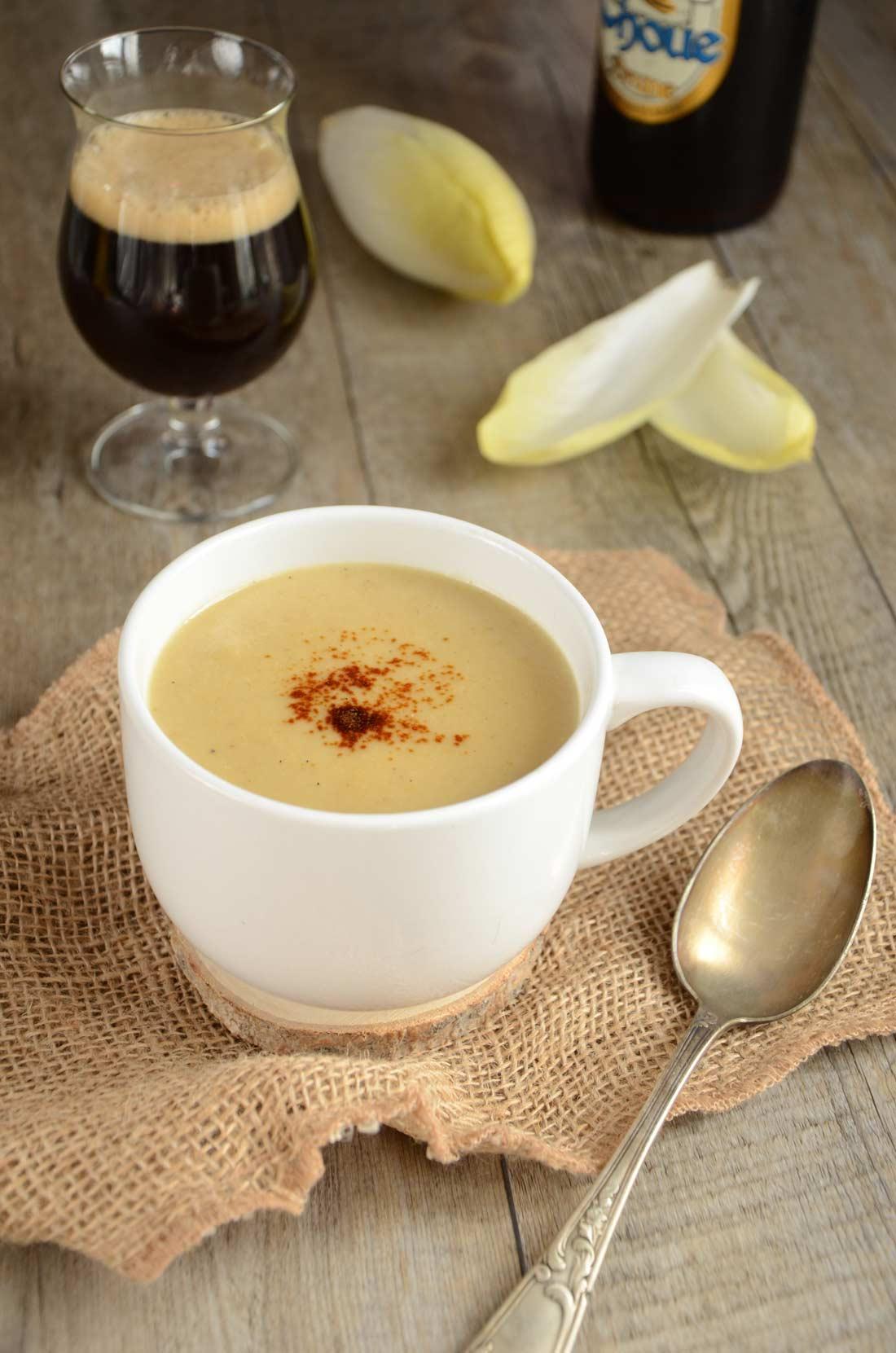 Soupe d'endives à la chicorée, une excellente façon de se régaler