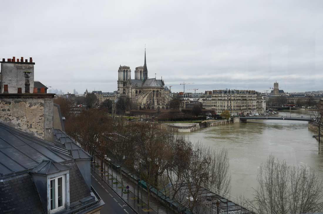 vue sur la Seine, Notre Dame et l'Ile de la Cité depuis la Tour d'Argent