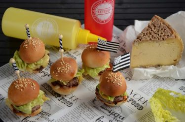 Mini burgers à la Tome de Rhuys