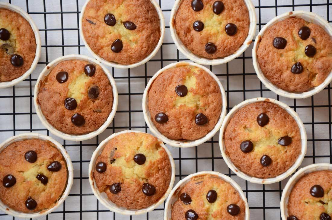 Muffins mangue pépites de chocolat parfaits pour le goûter