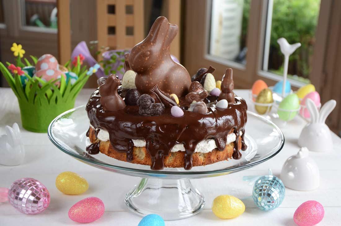 Gâteau noisettes et chocolat de Pâques maison