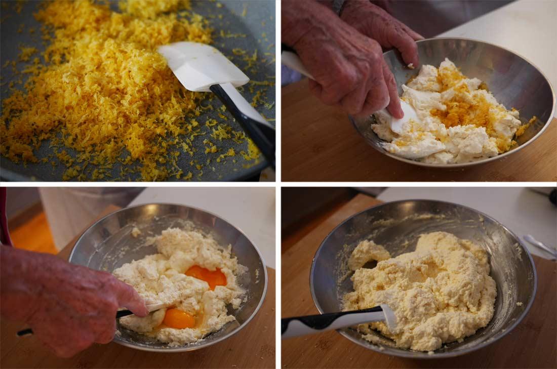 pas à pas préparation garniture des raviolis