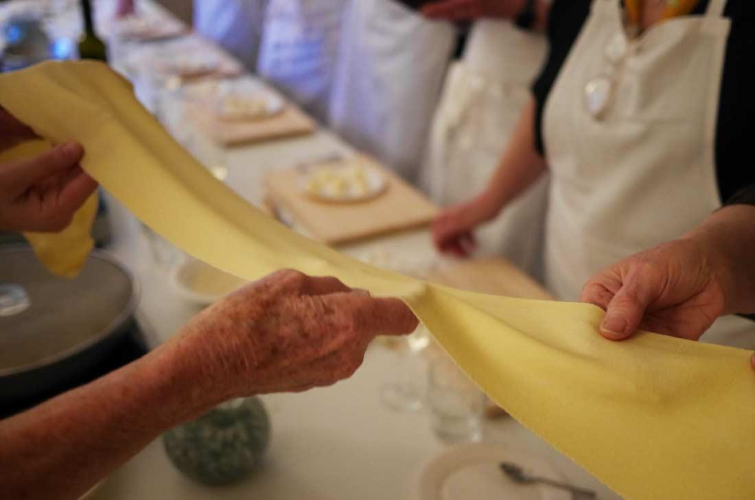 pâte à raviolis réalisée par Anna Bini
