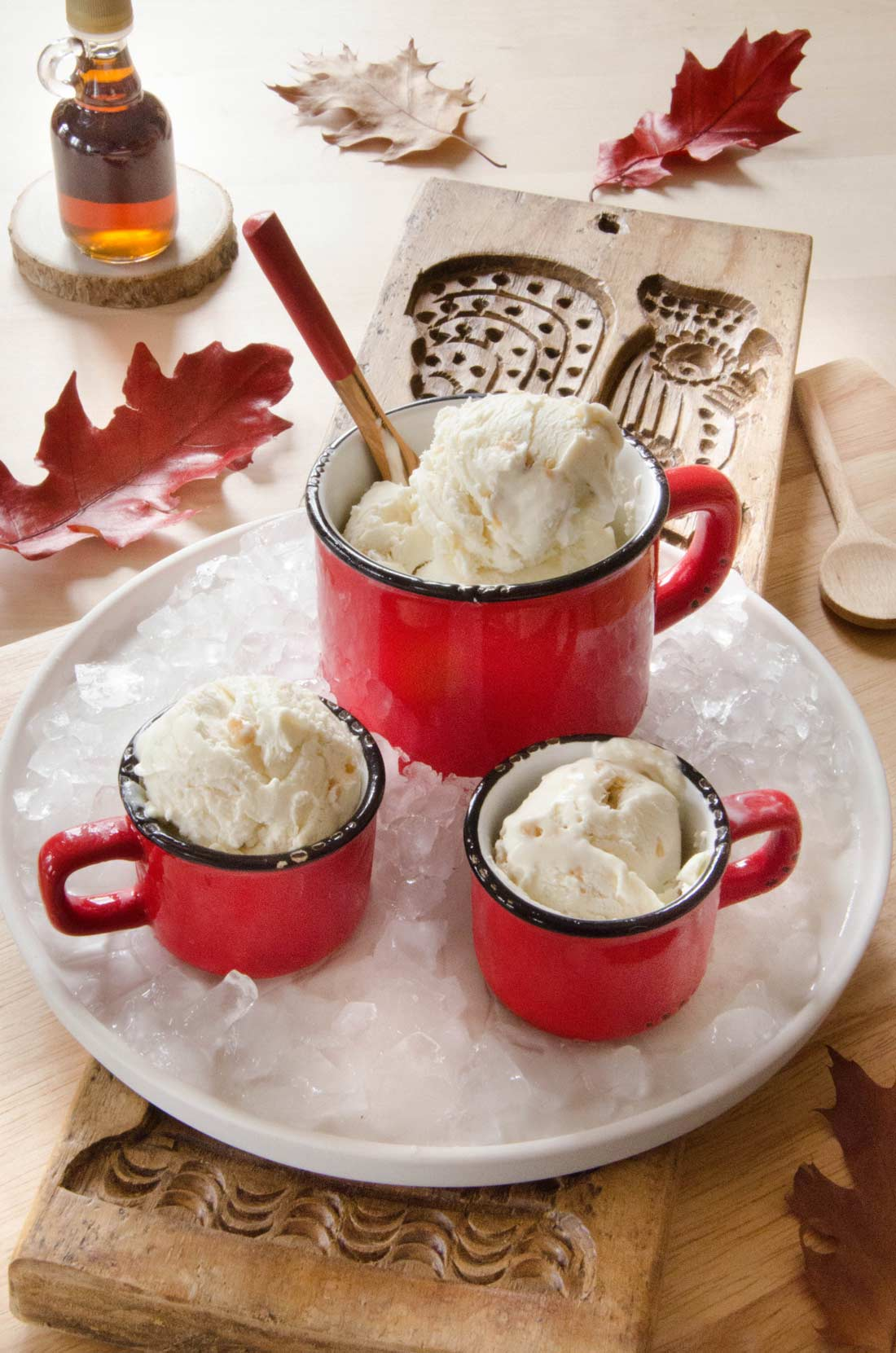 Crème glacée au sirop d'érable sans sorbetière