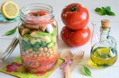 Salad jar tomates charnues maison