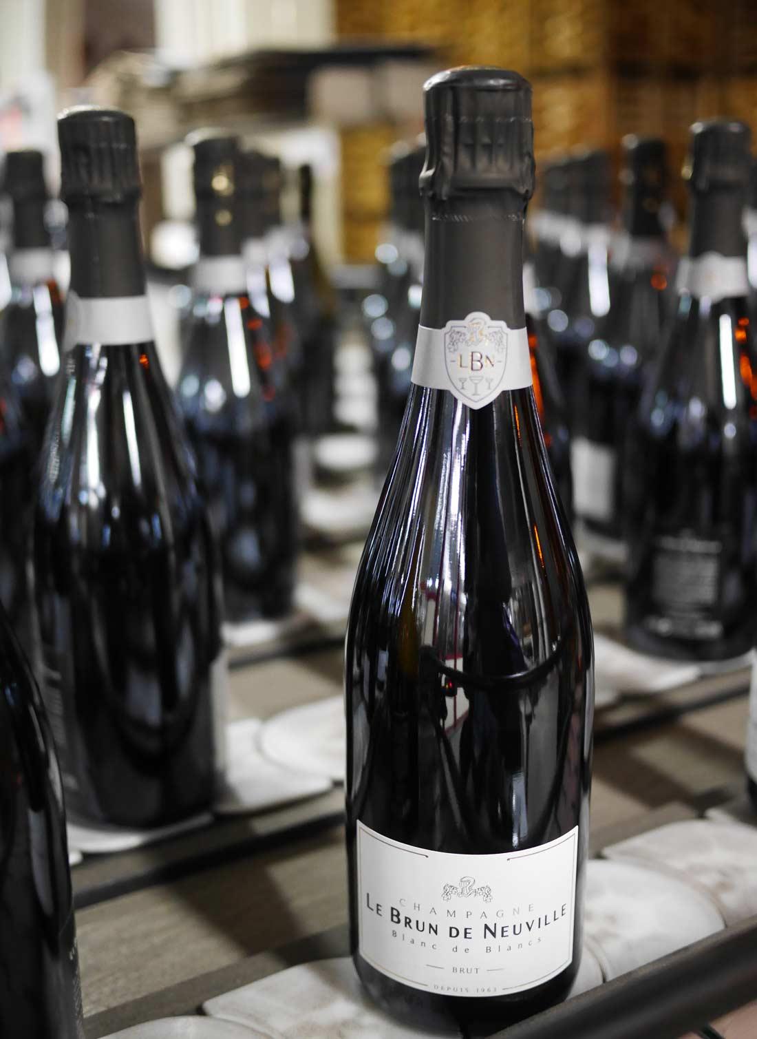 bouteilles de champagne Le Brun de Neuville