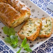 Cake fromage frais menthe fait maison