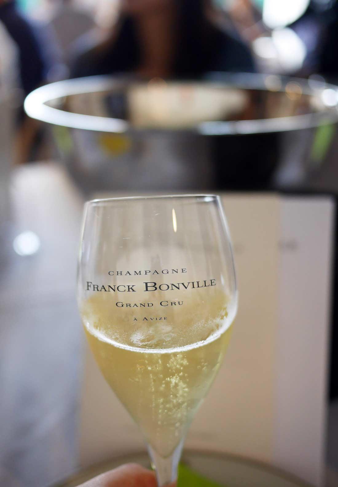 coupe de champagne Franck Bonville