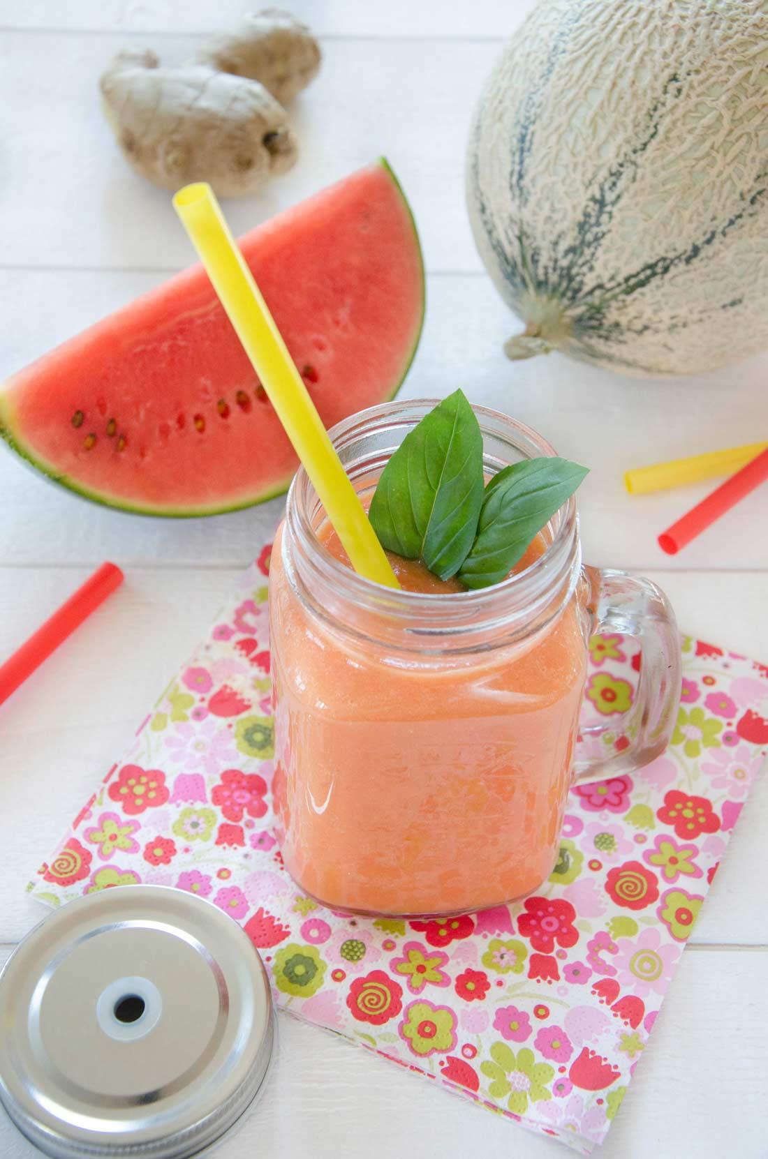 Gaspacho pastèque melon fait maison