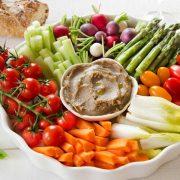 légumes et anchoiade maison