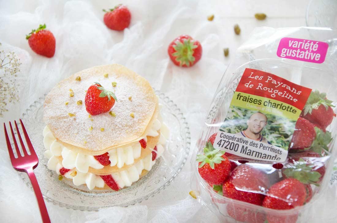 mini pastilla aux fraises fait maison