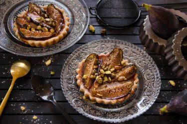 Tartelettes figues et pistaches fait maison