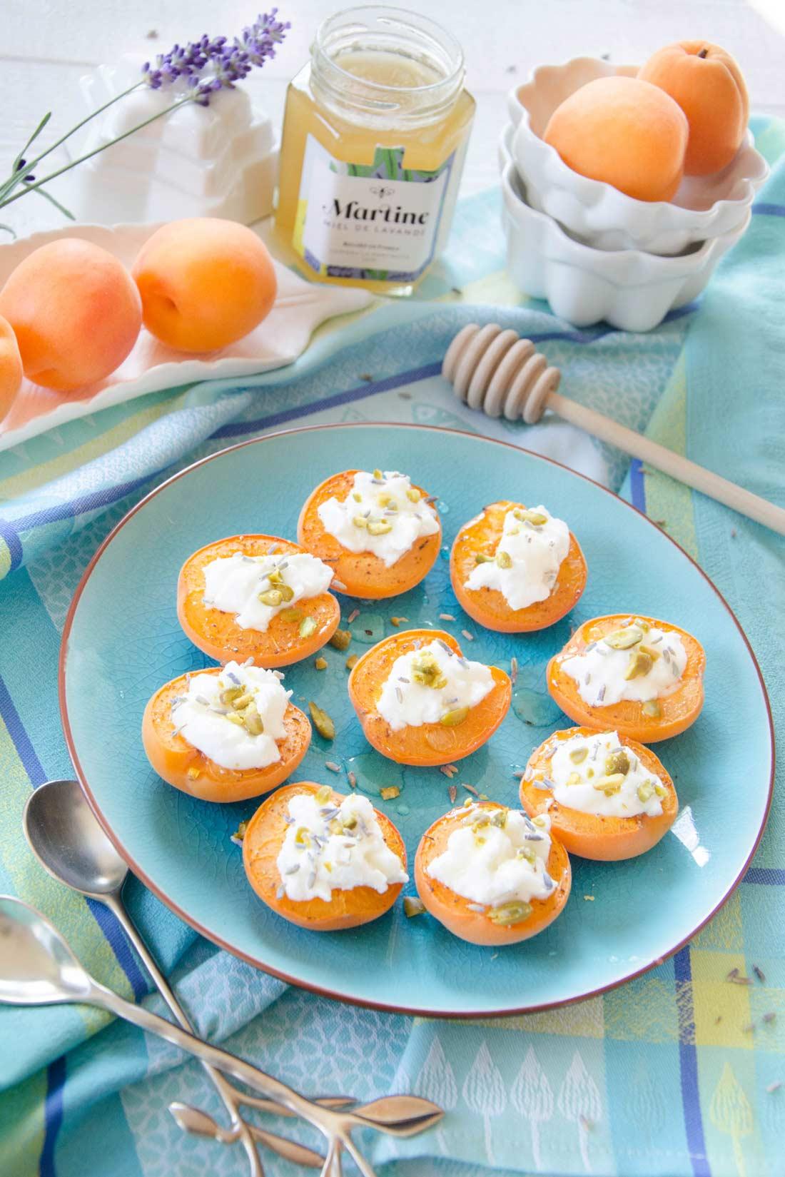 abricots faisselle de chèvre