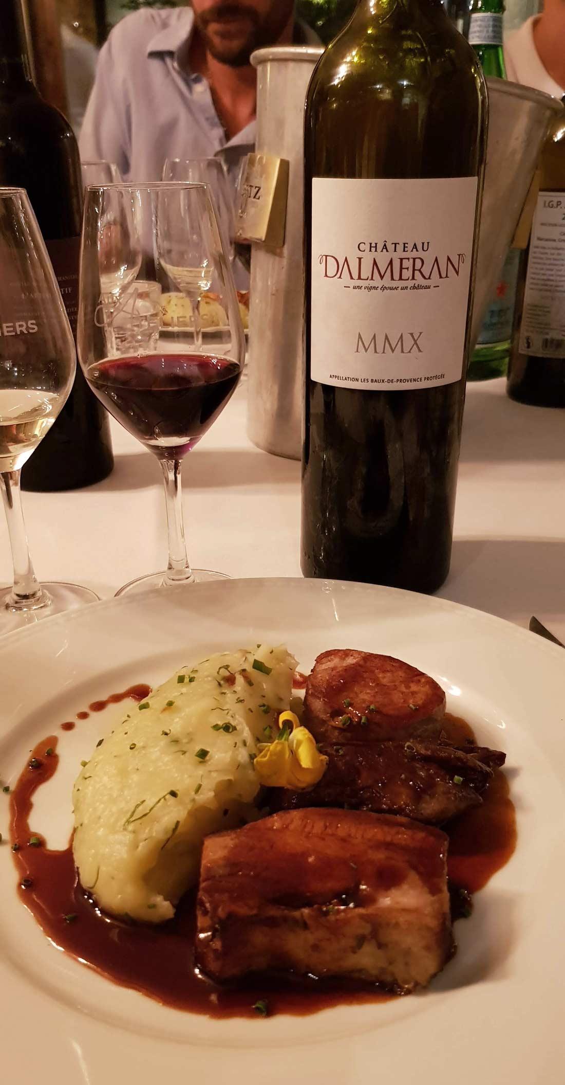Diner avec un vin du Domaine Dalmeran