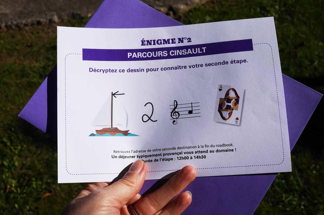 énigme rallye des baux de Provence