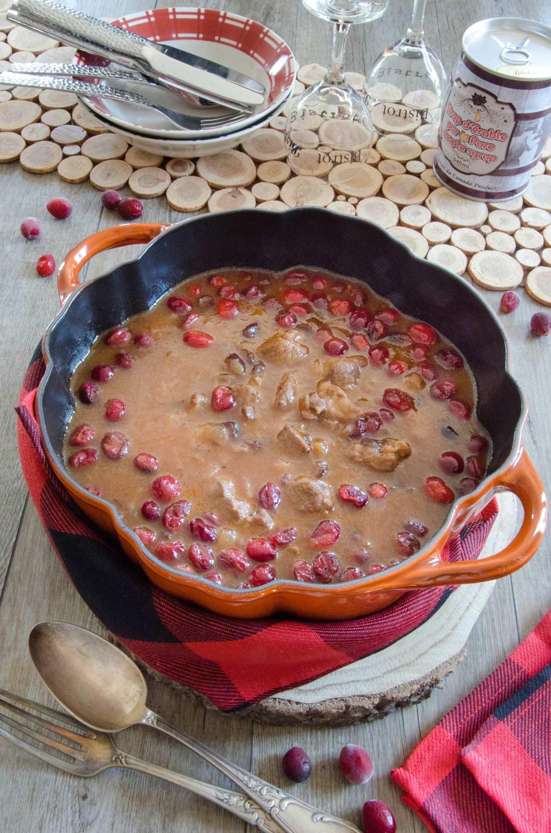 Agneau de Charlevoix sauce canneberges