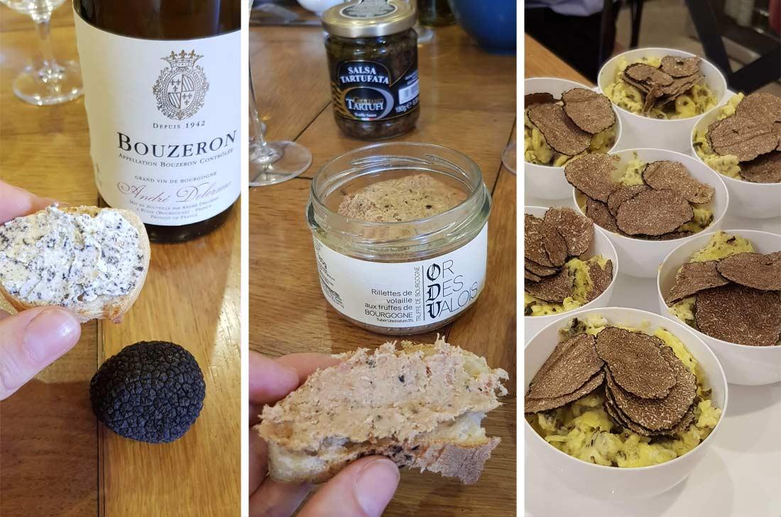 produits de Bourgogne à la truffe