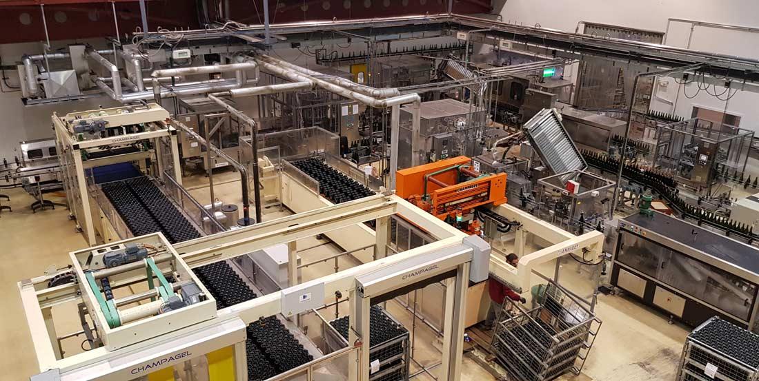 vue du site de production Veuve Ambal à Montagny Les Beaune