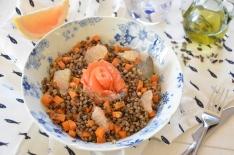 salade lentilles truite pomelo