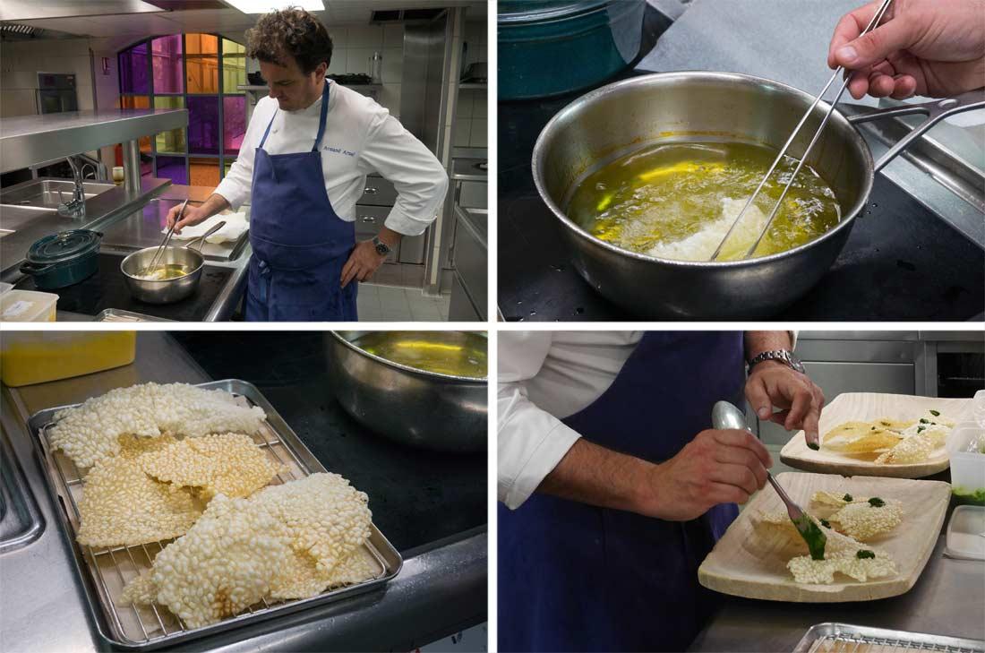 chips de riz façon Armand Arnal à la Chassagnette