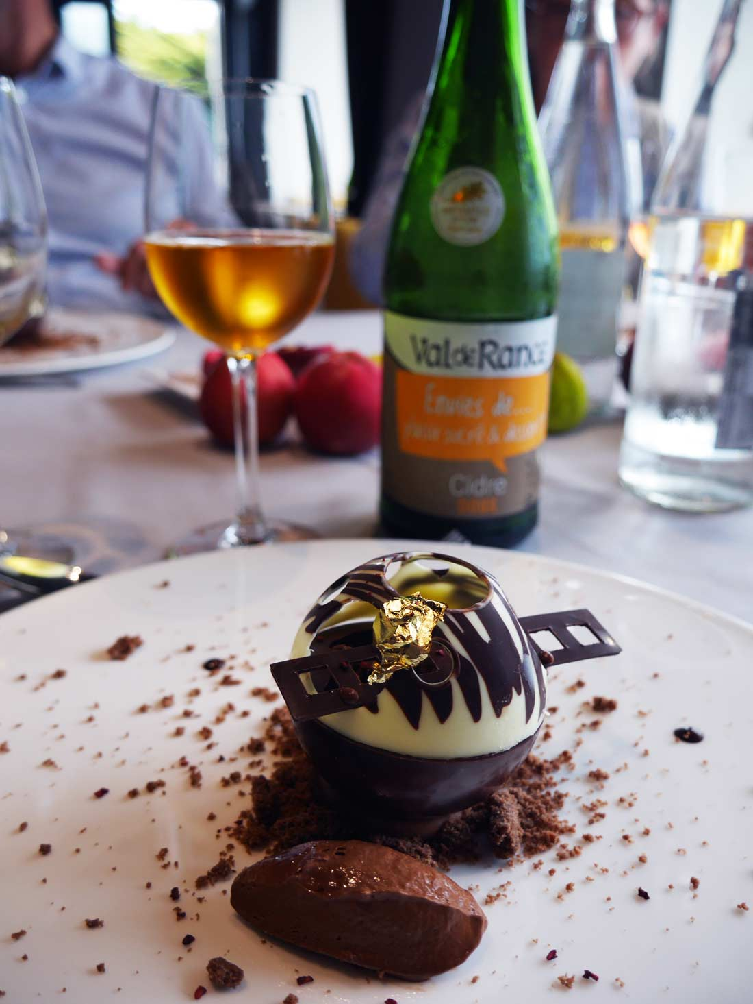 Dessert au chocolat et Val de Rance