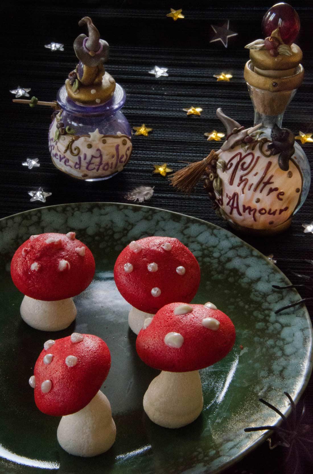 Halloween Meringues champignons vénéneux