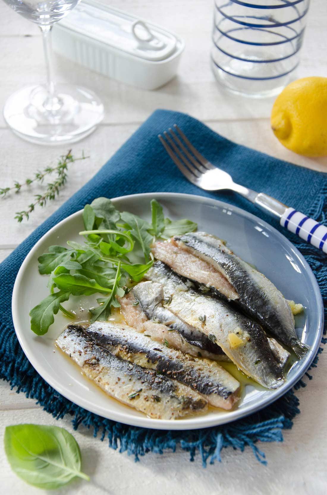 sardines au citron confit maison