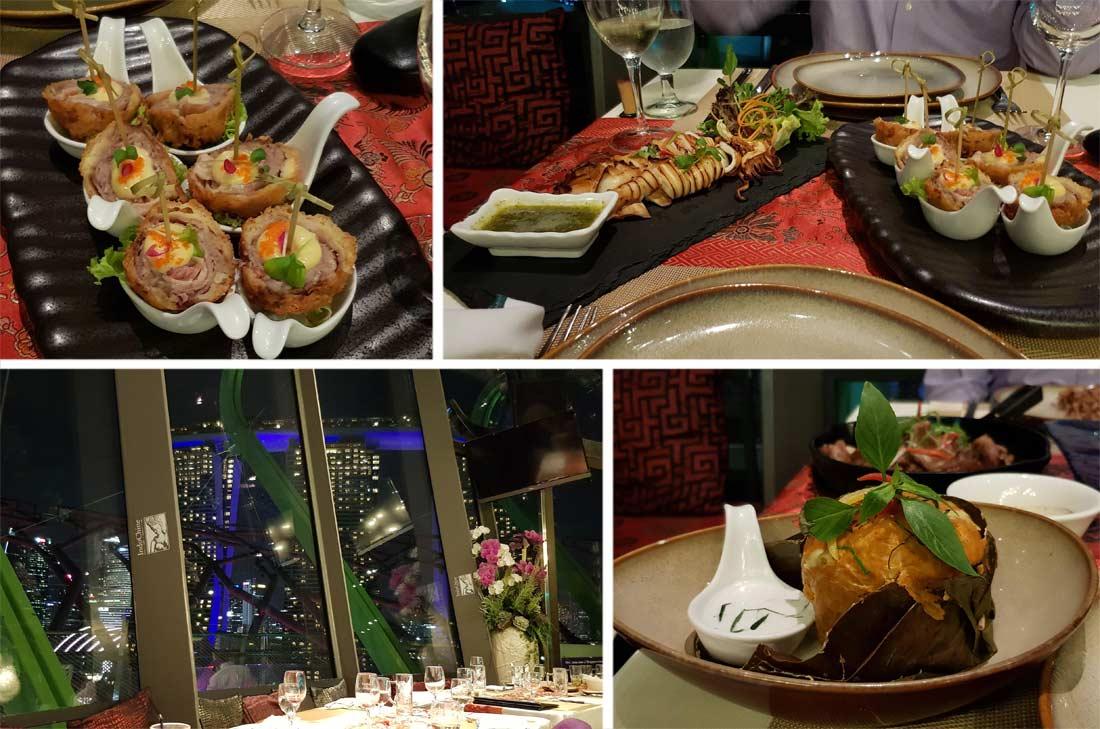 diner au restaurant indochine à Singapour