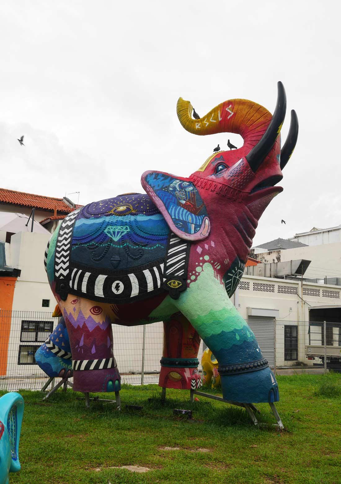 éléphant à Singapour