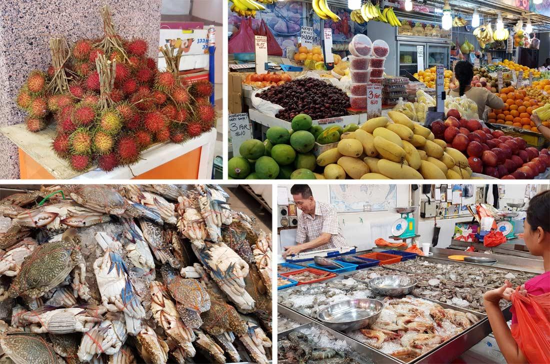 Le marché du quartier indien à Singapour