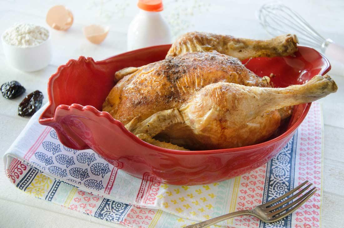 poulet au far breton aux pruneaux-maison