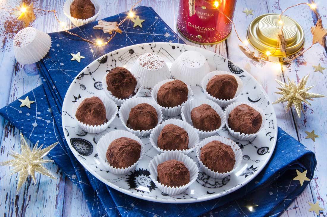 truffes au thé de Noël