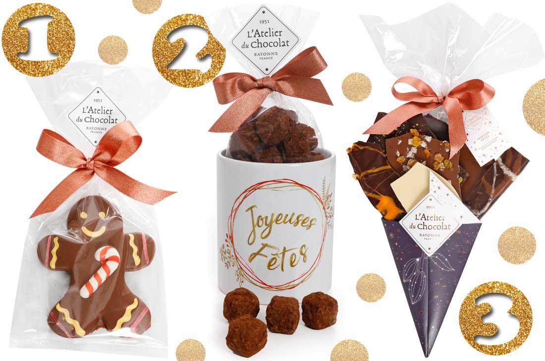 Les créations de l'Atelier du chocolat pour Noël 2018
