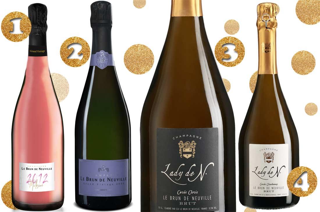 Sélection de champagnes Le Brun de Neuville