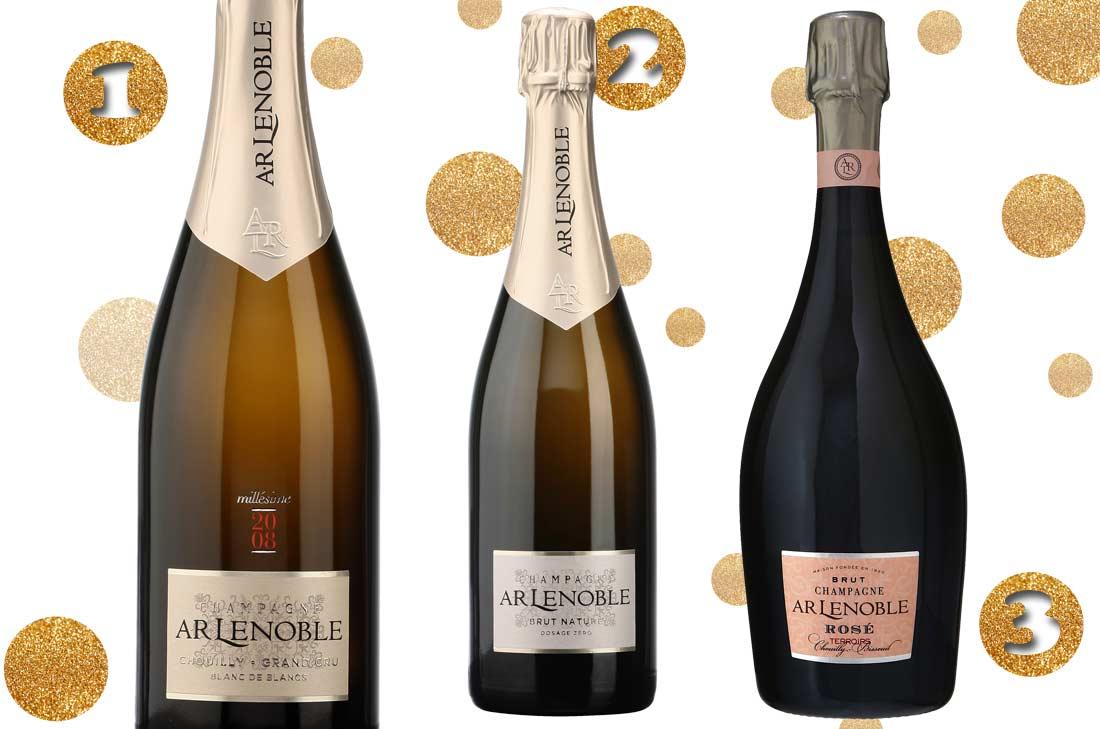 Sélection de champagnes AR Lenoble