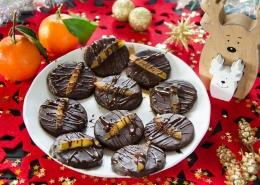 Chocolats pâte d'amande orange confite