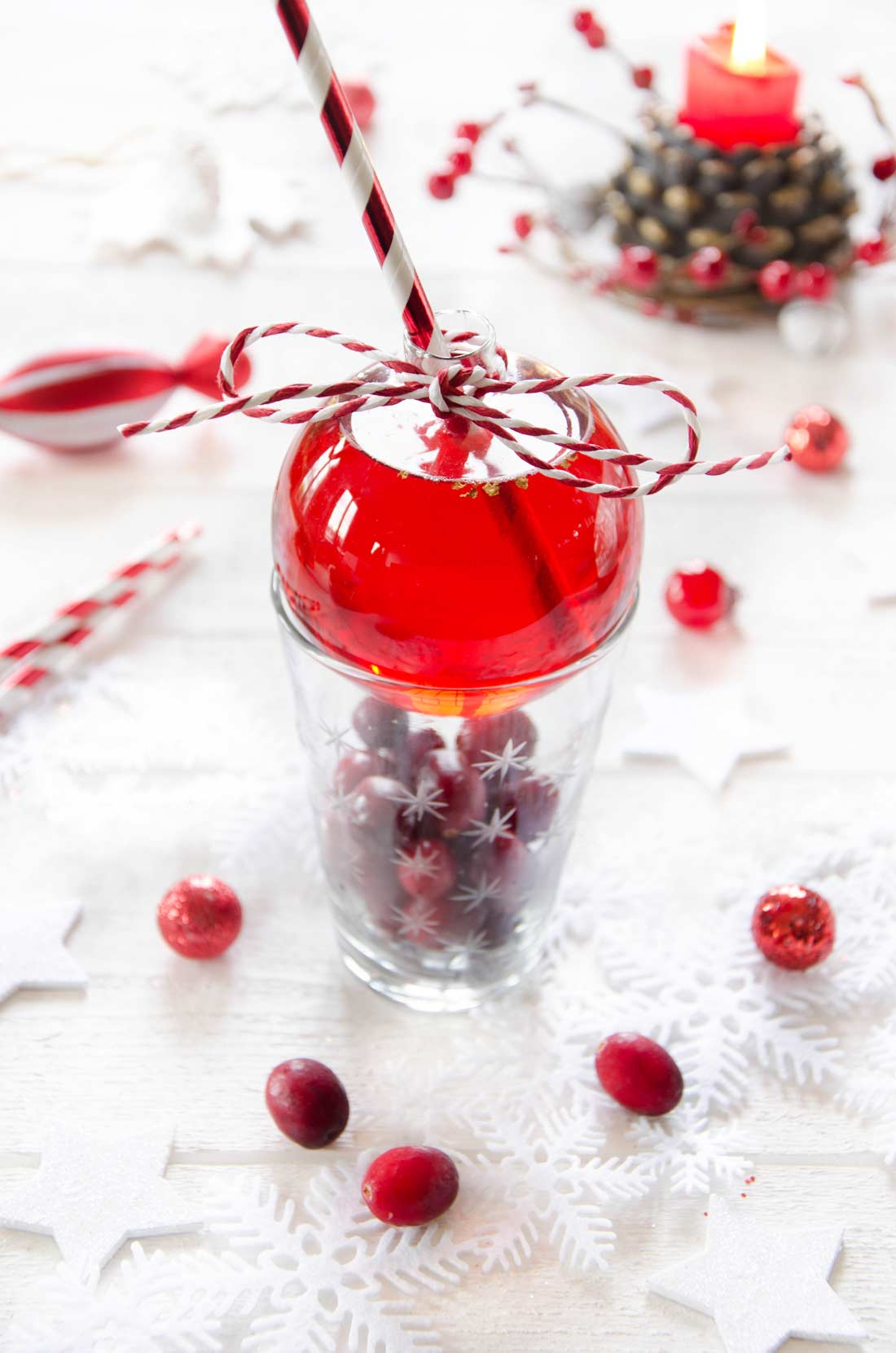 cocktail cranberries Noël