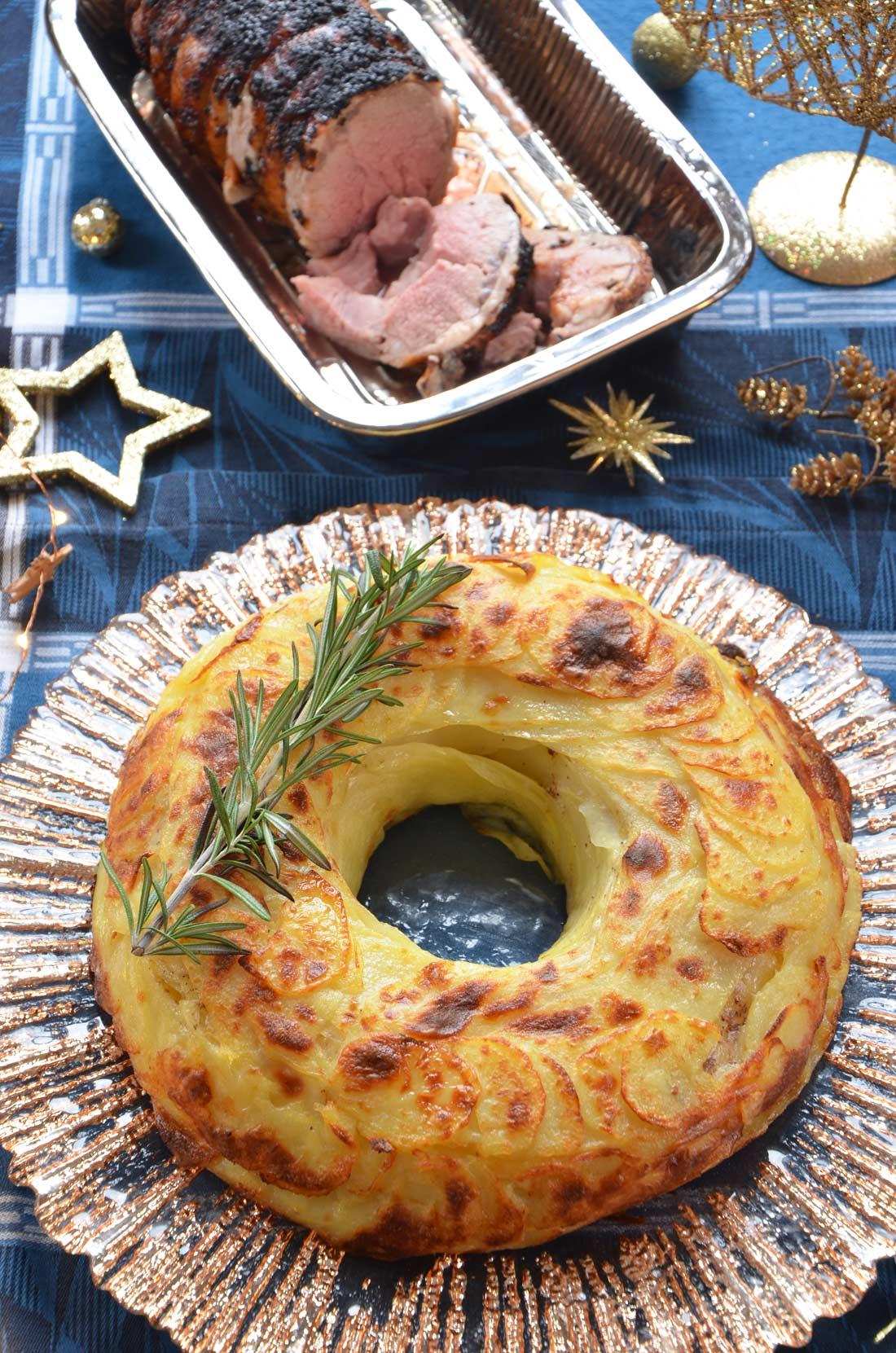 couronne de pommes de terre maison