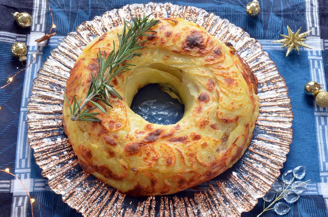 couronne de pommes de terre