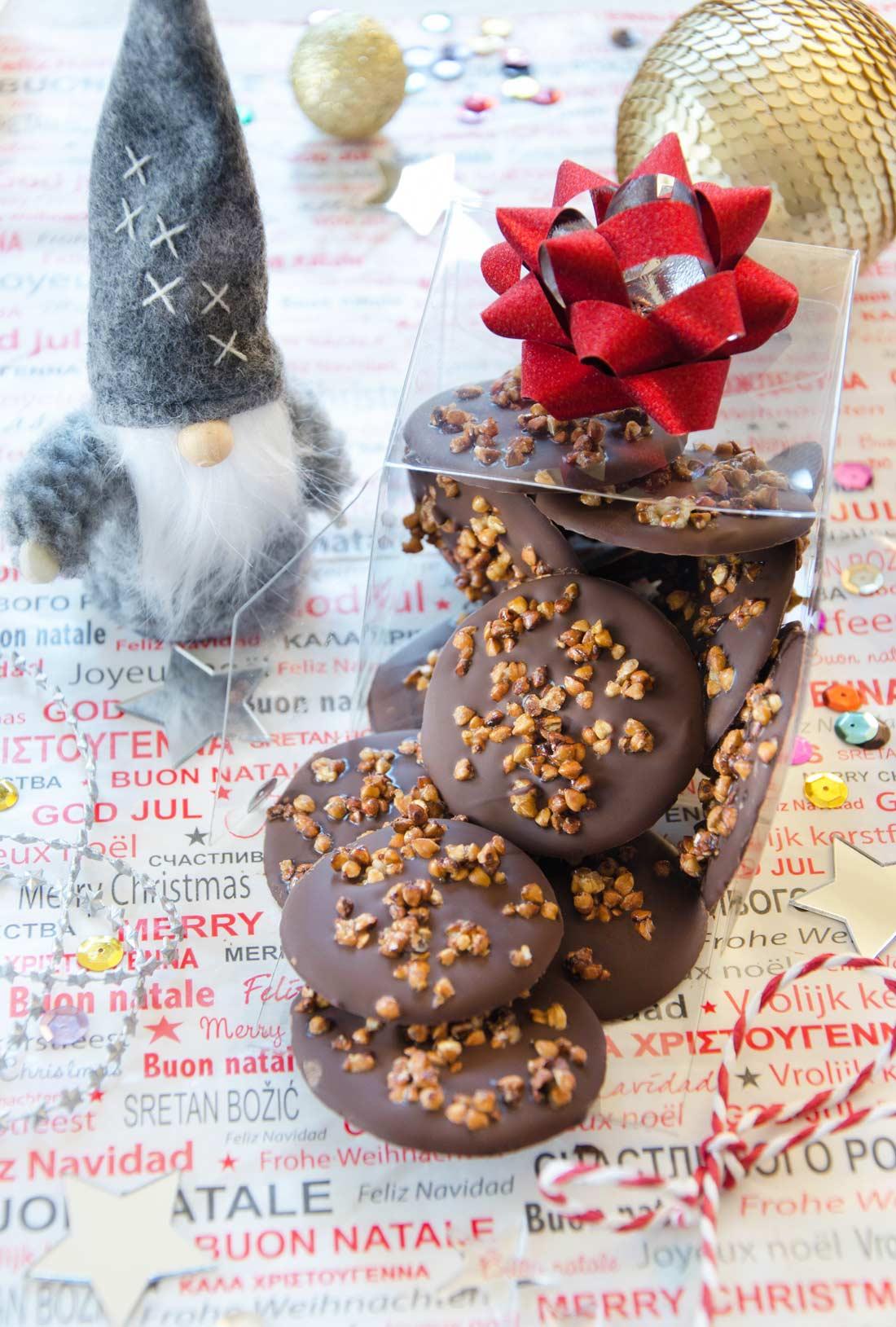 Mendiants chocolat sarrasin et sirop d'érable