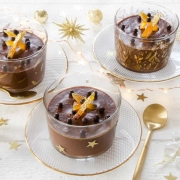 Mousse chocolat Cointreau orange confite