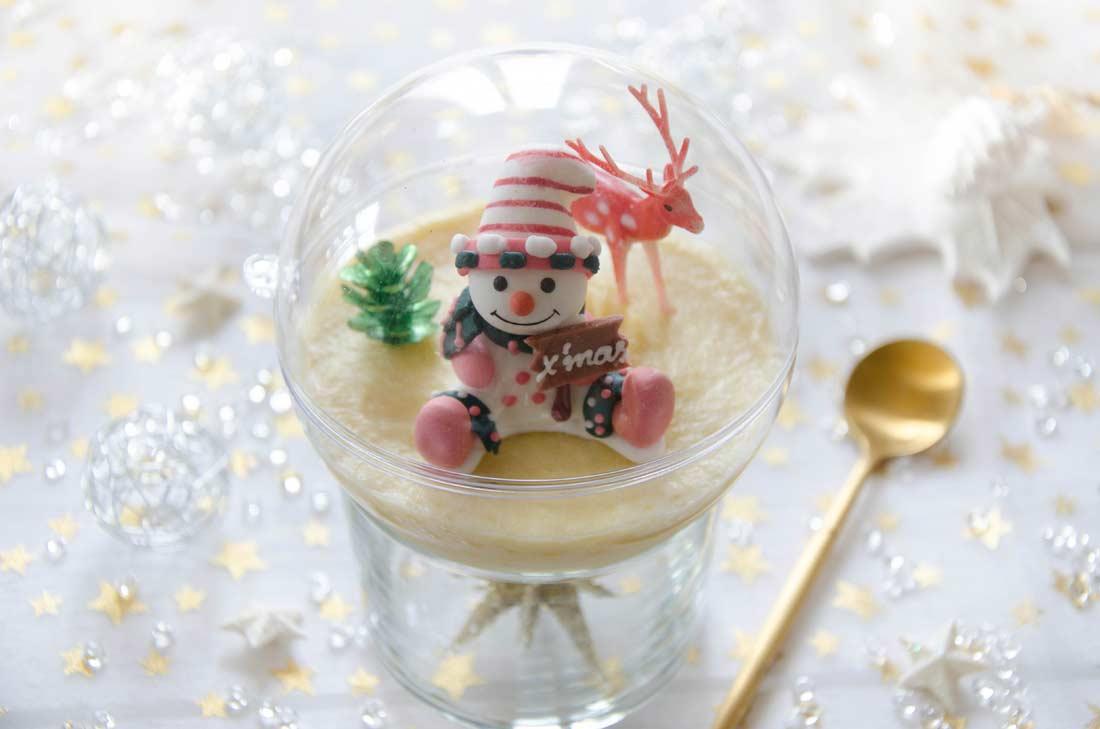 Mousse légère à la mangue façon Boule de Noël