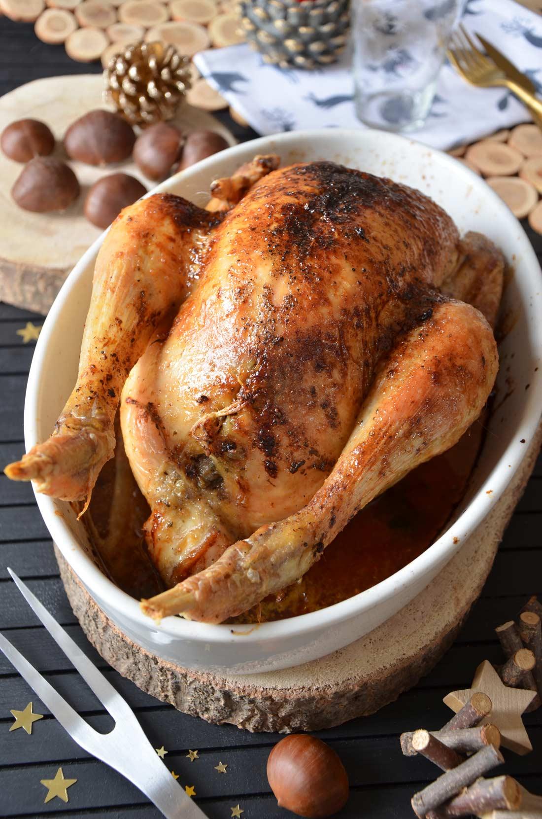 poulet farci aux marrons