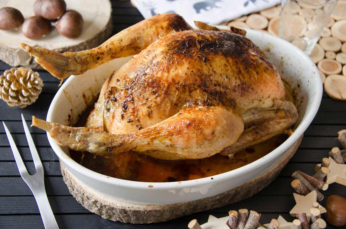 poulet farci aux marrons maison